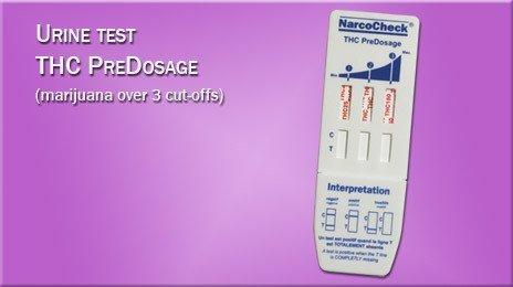 THC PreDosage Urine Test (3 detection levels)